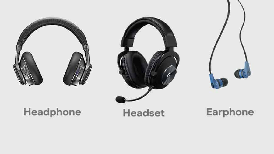 Perbedaan Earphone Headphone dan Headset