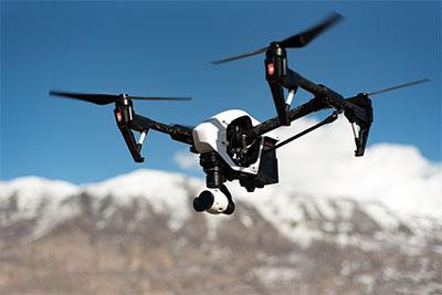 Contoh drone terbaik dengan warna putih